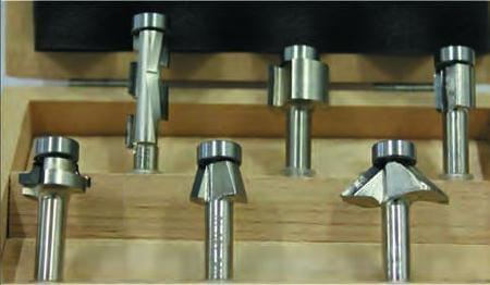 Router cutters for electroboring machines