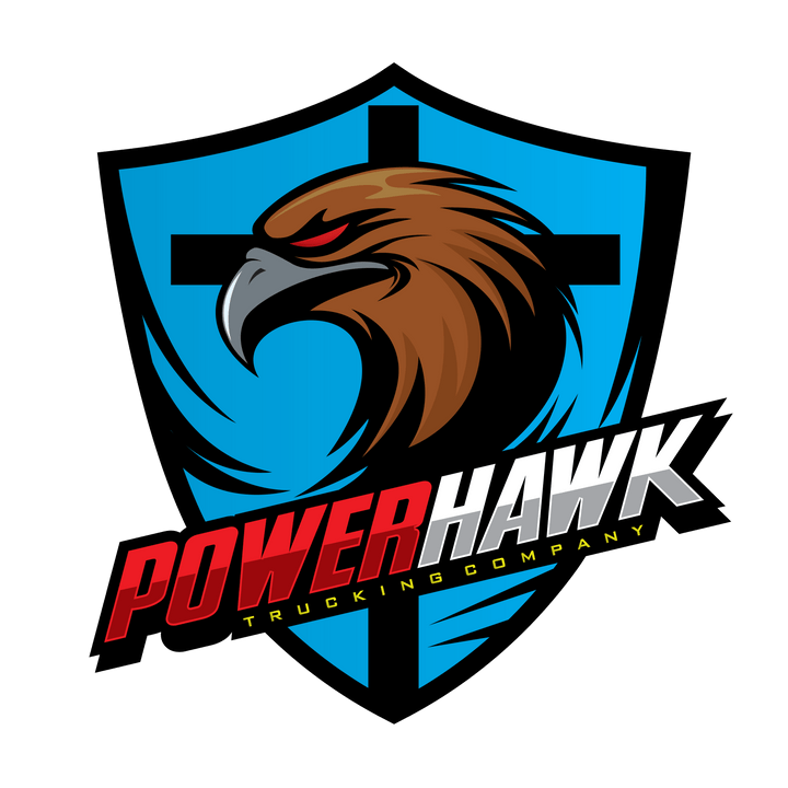 PowerHawk Trucking Company Logo