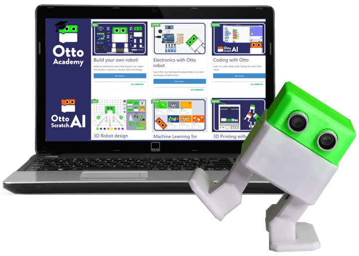 Otto DIY robot Academy  Arduino Scratch hour of code