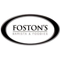 logo foston's coffee barista and foodies communication