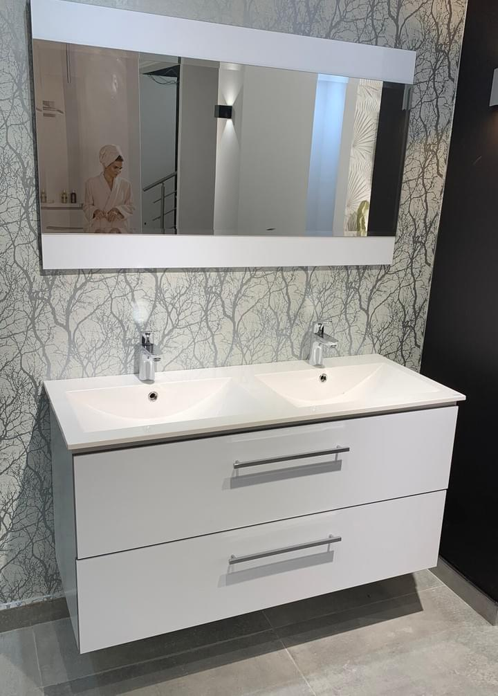 Bathroom furniture Tunisia  / Vanity top Comete 120 cm with cabinet and mirror