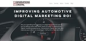 Website of Generations Digital - a client of Inspiringly