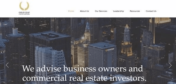 Website of Gold Leaf Capital Partners - financial consultancy and advisory services.