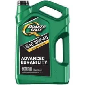 quaker state oil change jug