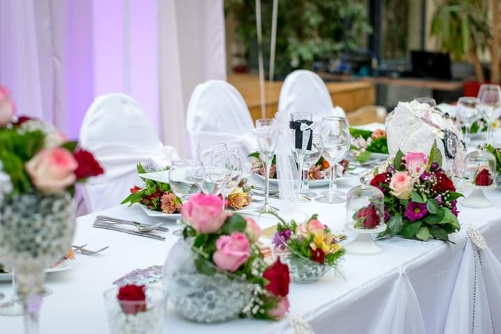 Roses & Gerberas Wedding Reception | Midwood Florist
