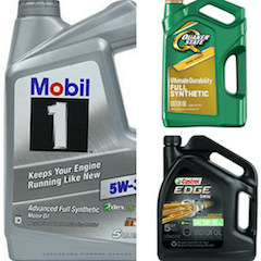Oil change services, mobil 1, castrol & Quaker State