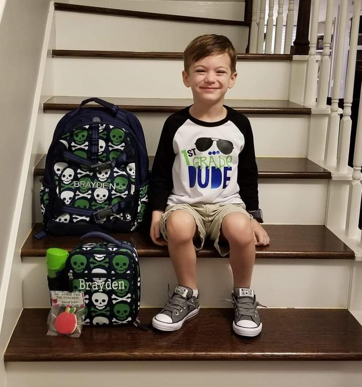 Brayden's first day in 1st grade