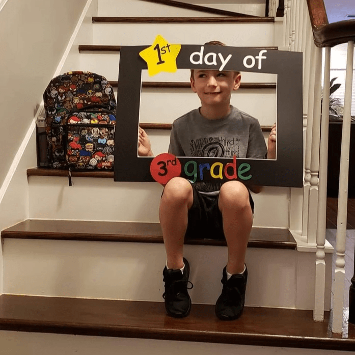 Brayden's first day in 3rd grade