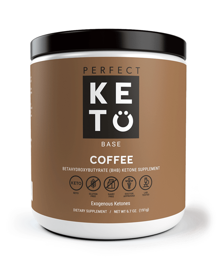 Perfect Keto Exogenous Ketones: Base BHB Salts Supplement. Ketones for Ketogenic Diet Best to Support Weight Management & Energy, Focus and Ketosis Beta-Hydroxybutyrate BHB Salt (Coffee)