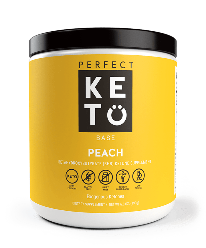 Perfect Keto Exogenous Ketones: Base BHB Salts Supplement. Ketones for Ketogenic Diet Best to Support Weight Management & Energy, Focus and Ketosis Beta-Hydroxybutyrate BHB Salt (Peach)