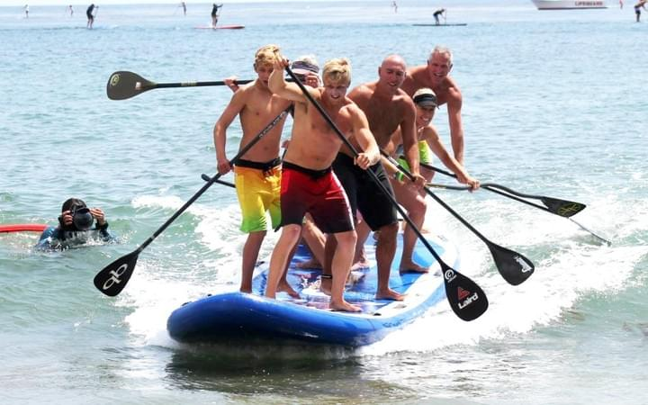 paddle board hire at omaha beach