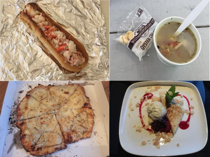 Lobster roll, RI clam chowder, Sally's apizza, angel food grilled cheese dessert