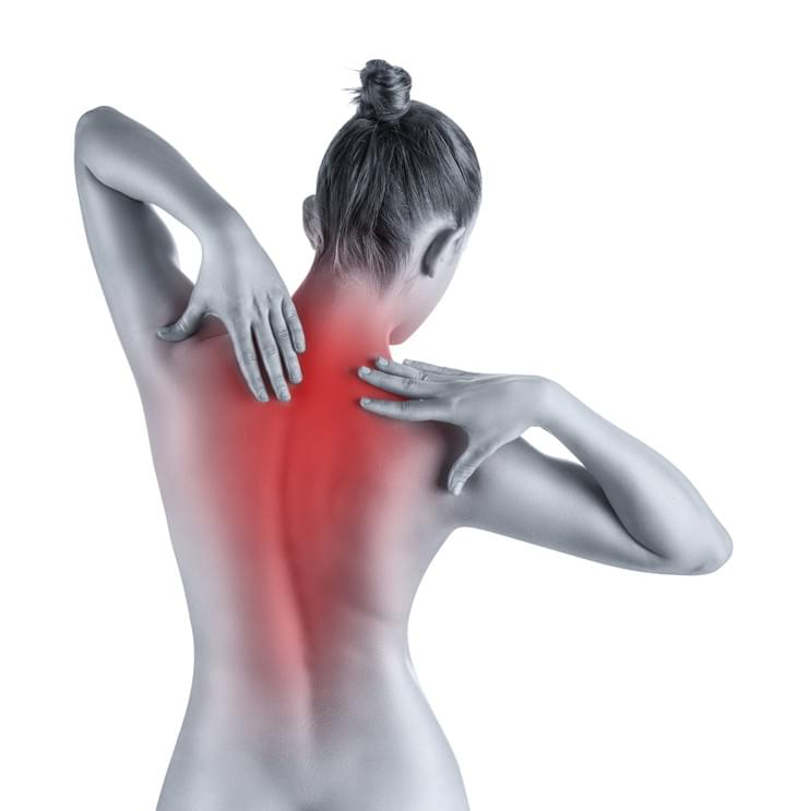 Woman with low back pain