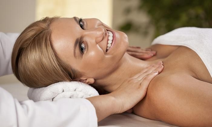 Woman Getting A Massage-Holiday Theme