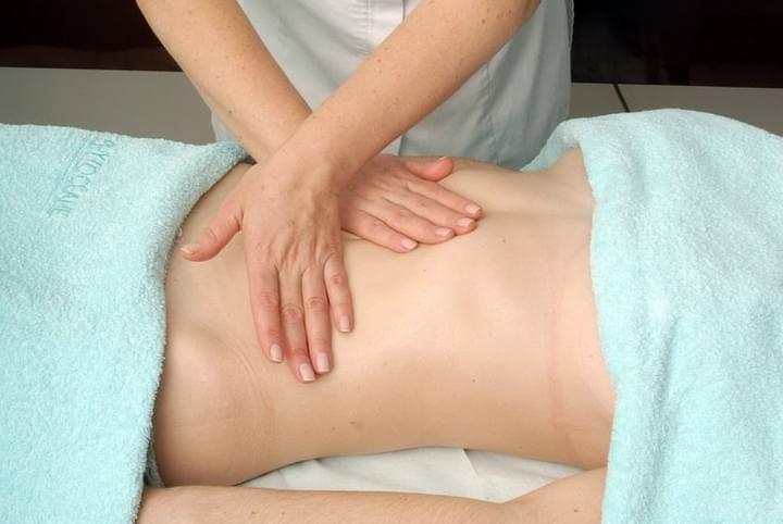 Female Abdomen Getting Fertility Massage