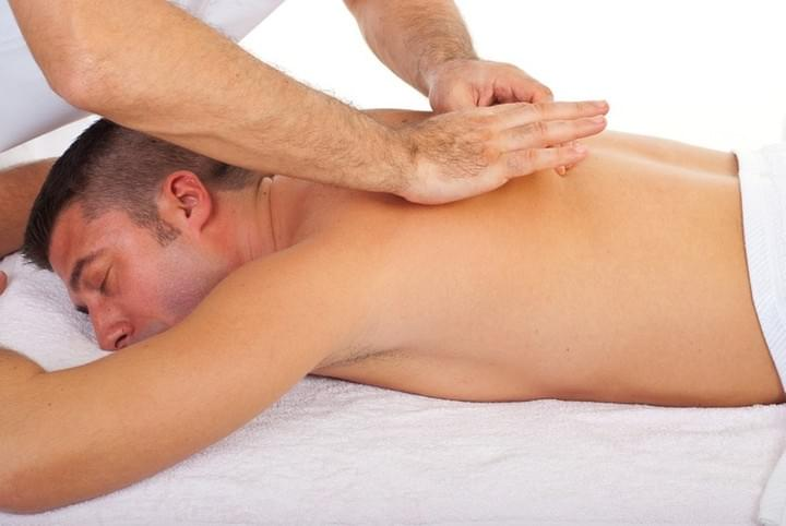 Man Getting A Back Massage-Face Down