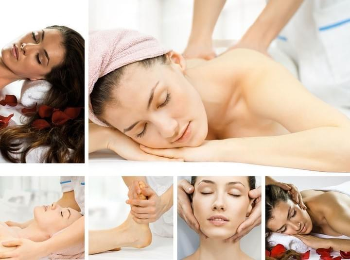 Collage of Woman Getting Massage!