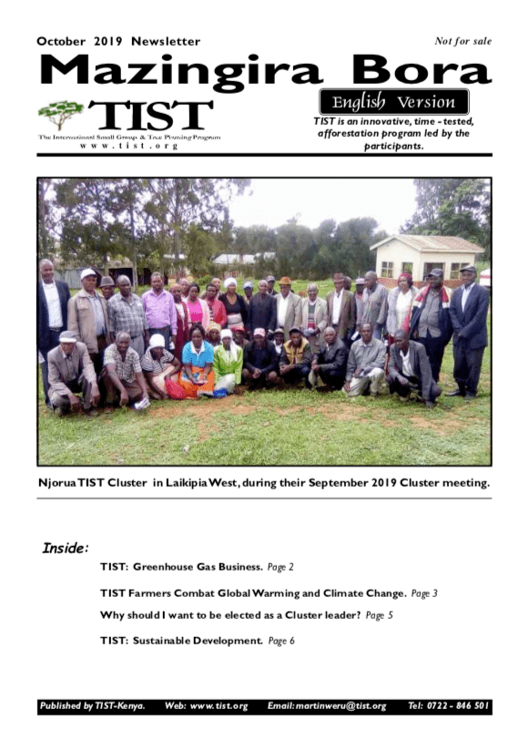 Kenya Newsletter cover