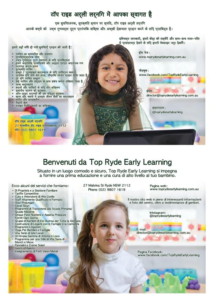 Top Ryde Early Learning Posters
