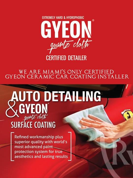 Ceramic auto detailing packages Miami