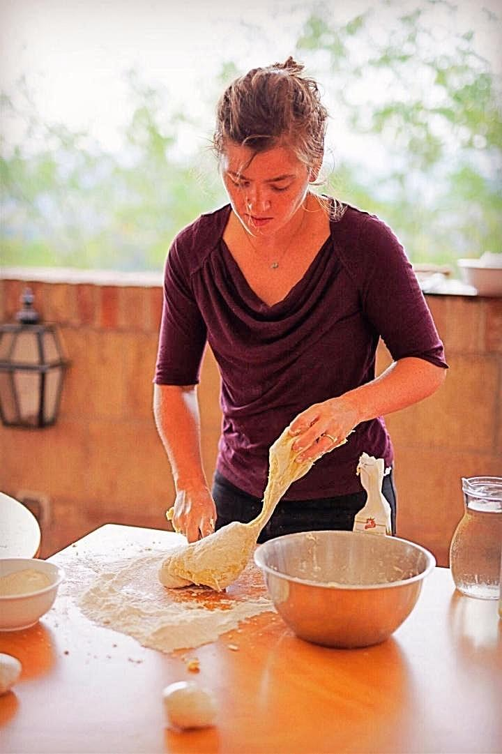 Alexis working with pasta dough //📷 : Johnny Saigon