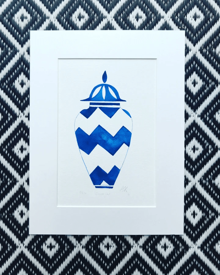 Blue ginger jar liimited edition print