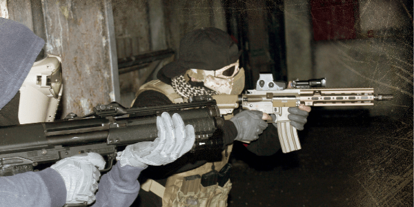 Indoor Airsoft Skirmish Players