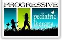 Progressive Pediatric Therapy logo and the link for the website