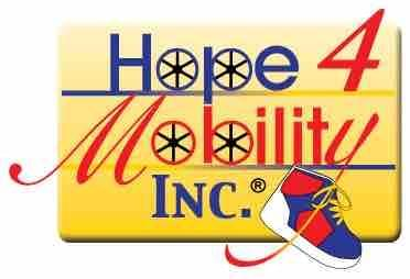 Hope 4 Mobility logo and the link for the website