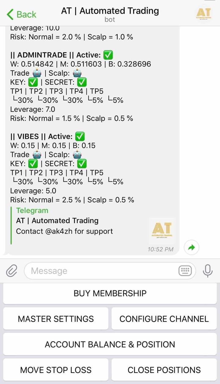 Members - Automated Trading Bot