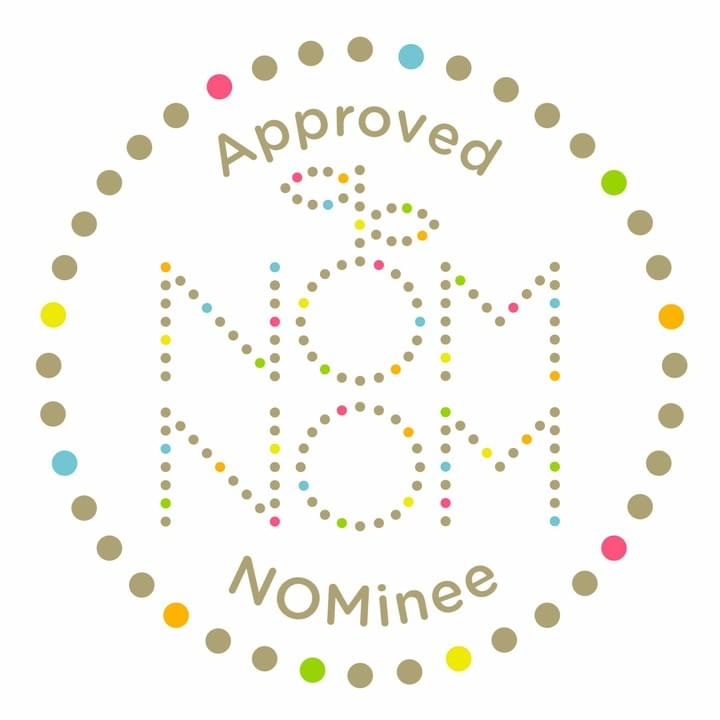 Nom Nom logo - Emilie is a recognised skincare NOMinee partner