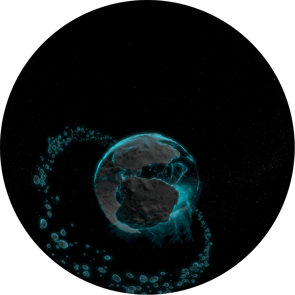 Fictional Planet with Rings