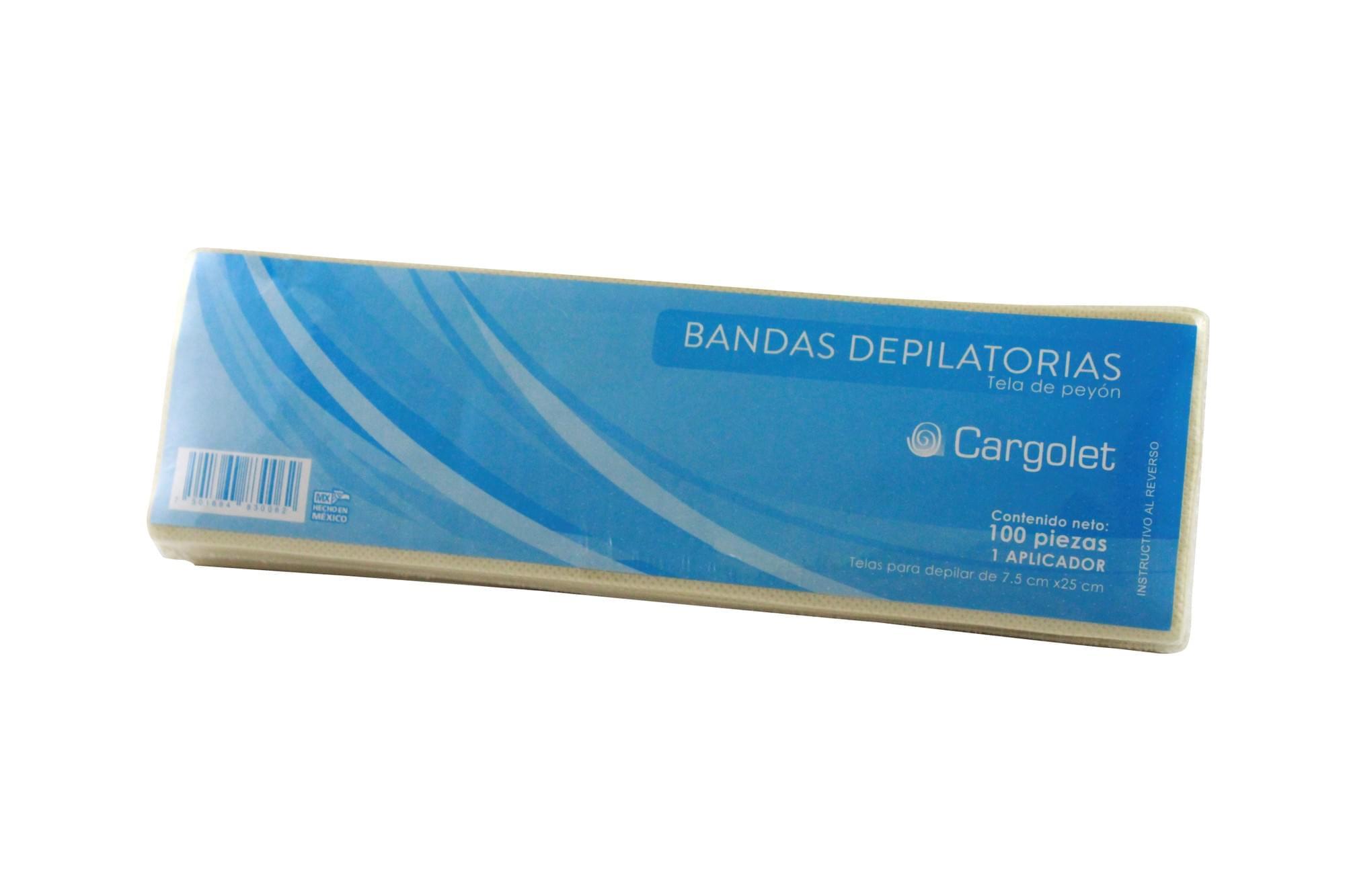 Bandas depilatorias 100 piezas