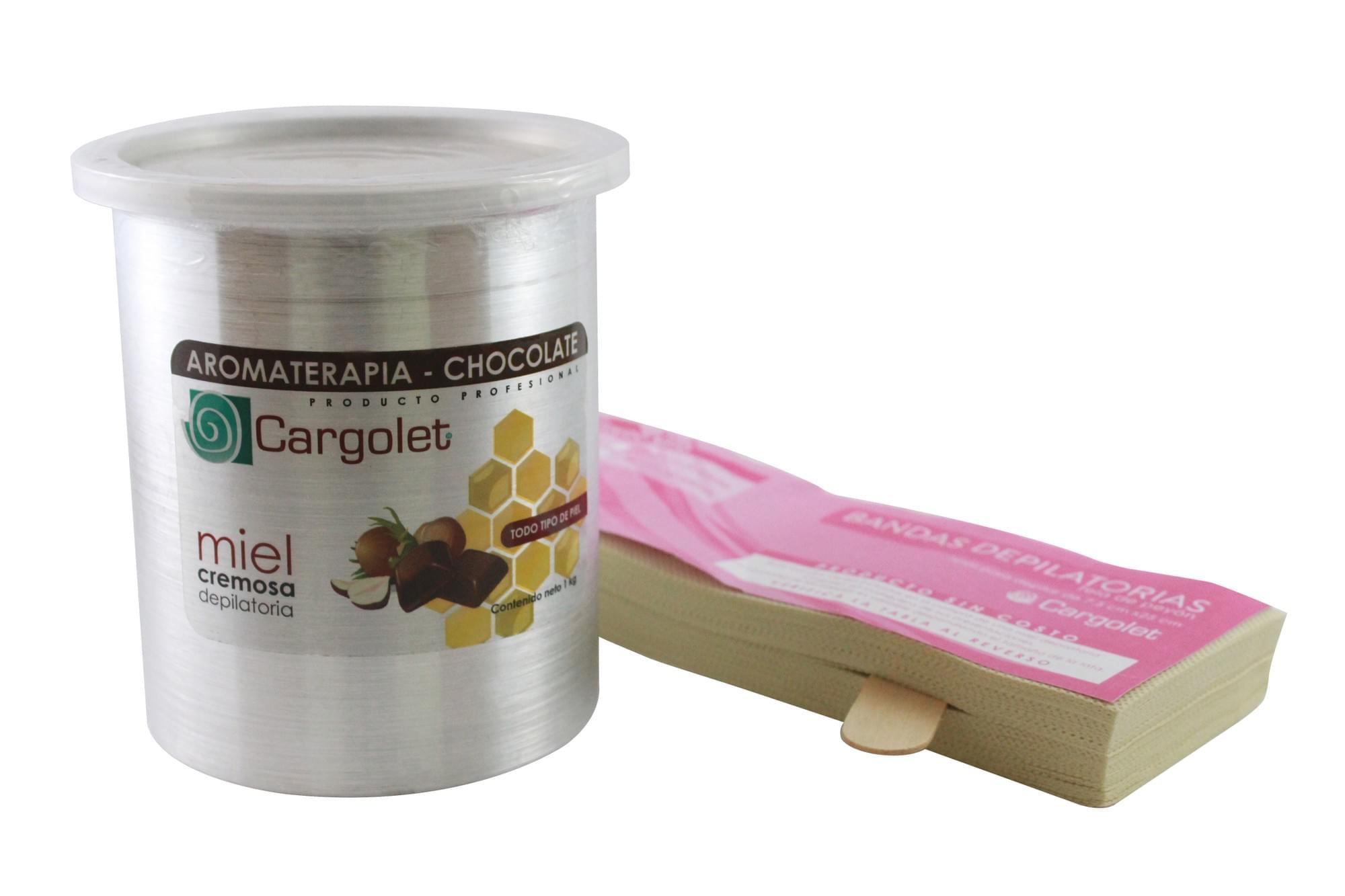 Miel depilatoria cremosa aromaterapia chocolate 1kg