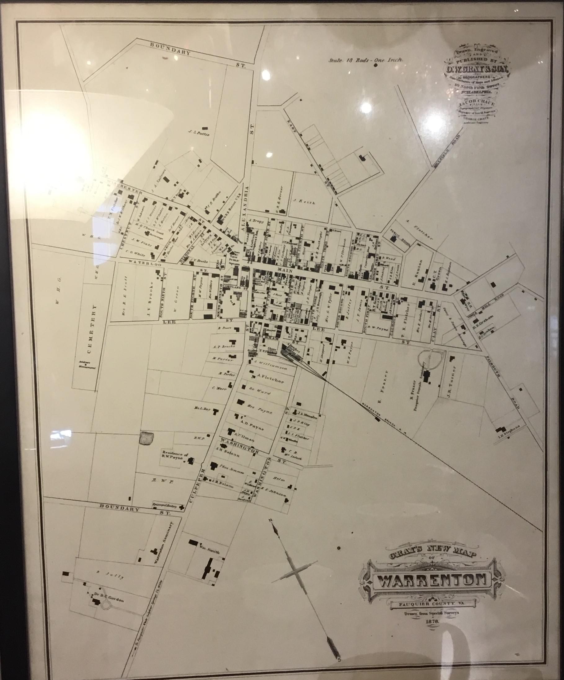 1878 Map of Warrenton