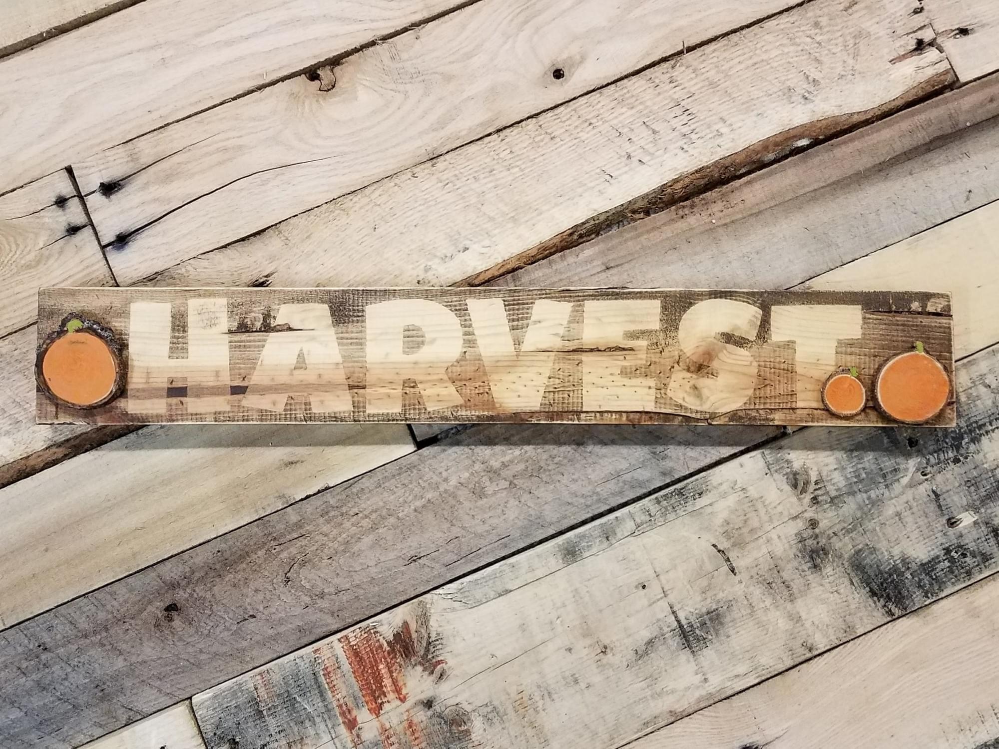 Harvest Wood Sign