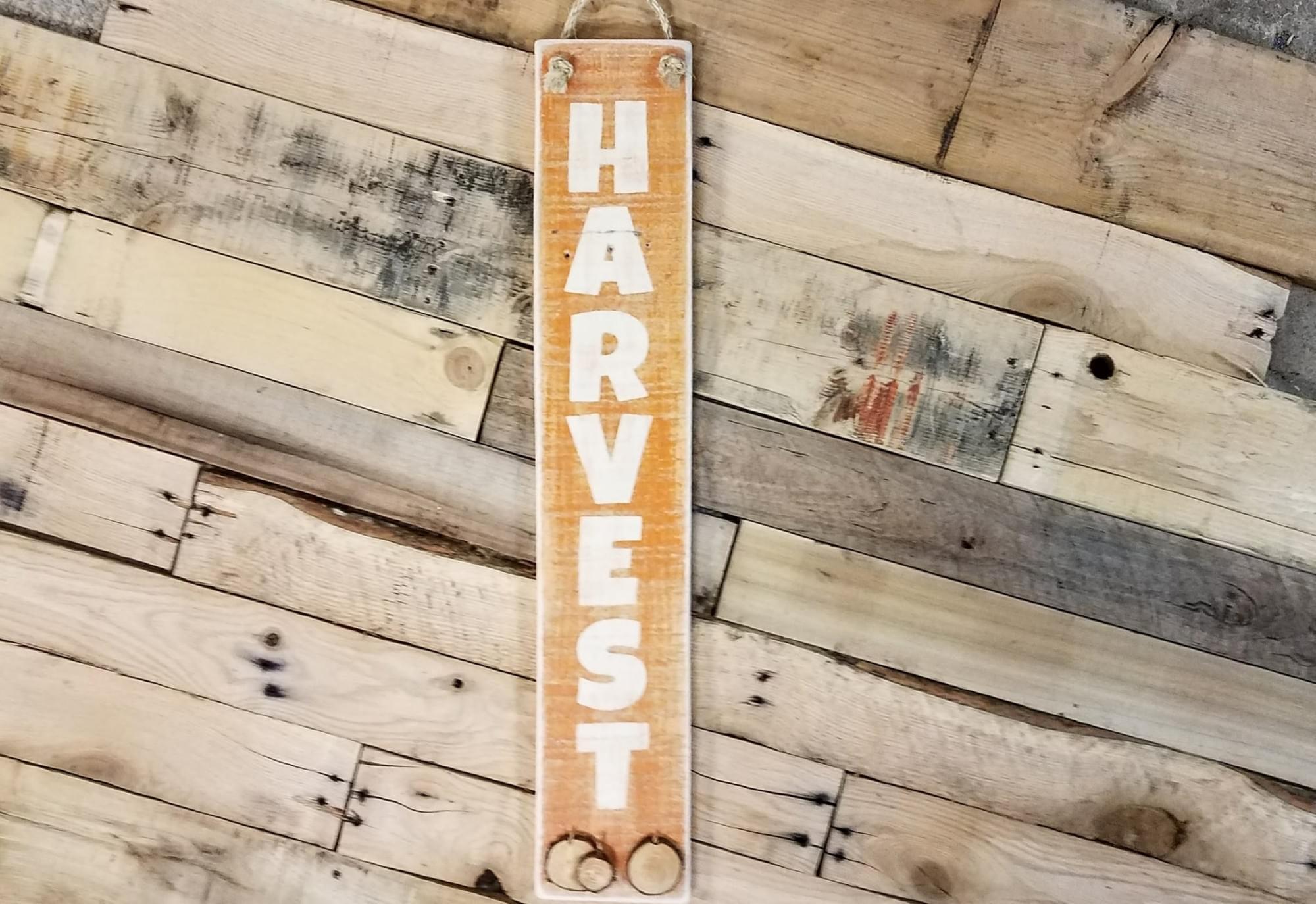 Harvest-Vertical Wood Sign