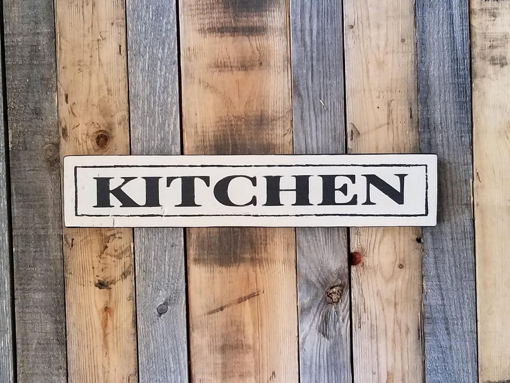 Kitchen Wood Sign