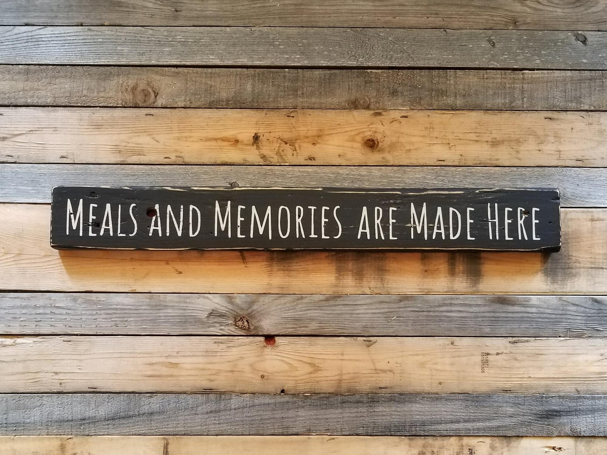 Meals And Memories Kitchen Wood Sign