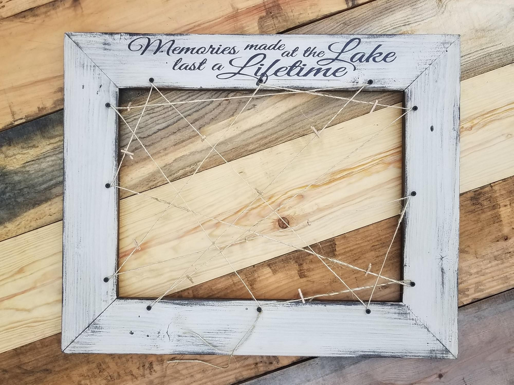 Lake Memories Wood Frame