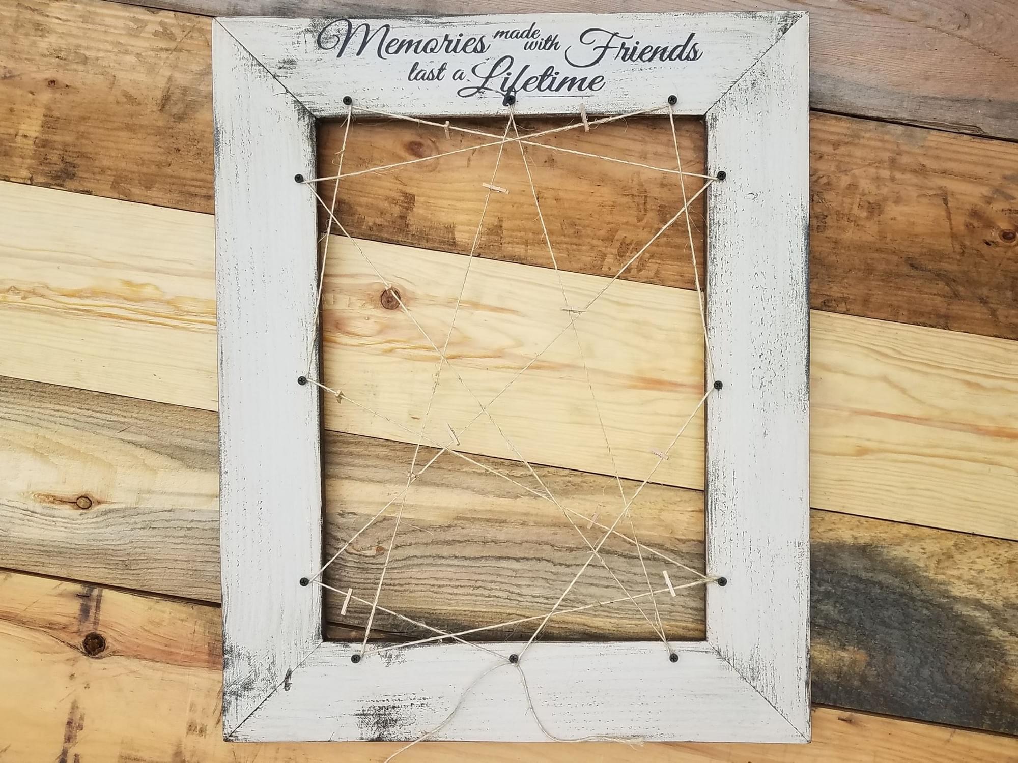 Friends Memories Wood Frame
