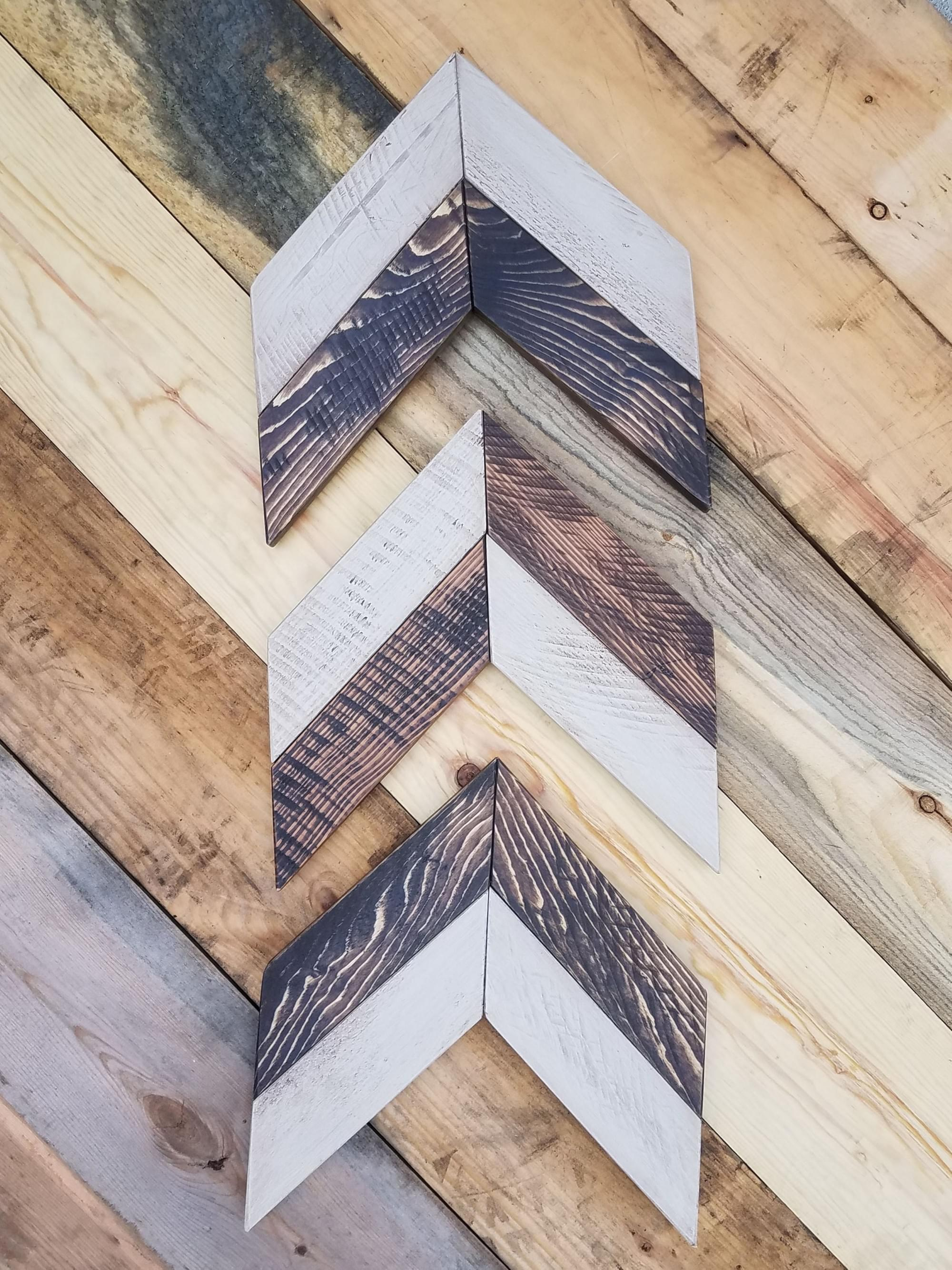 Chevron Arrows Wood Wall Art - Set of 3