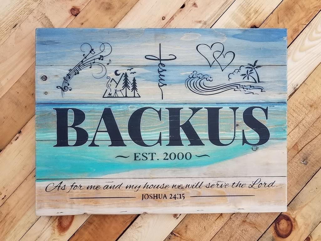 Beachy Family Symbols Wood Sign