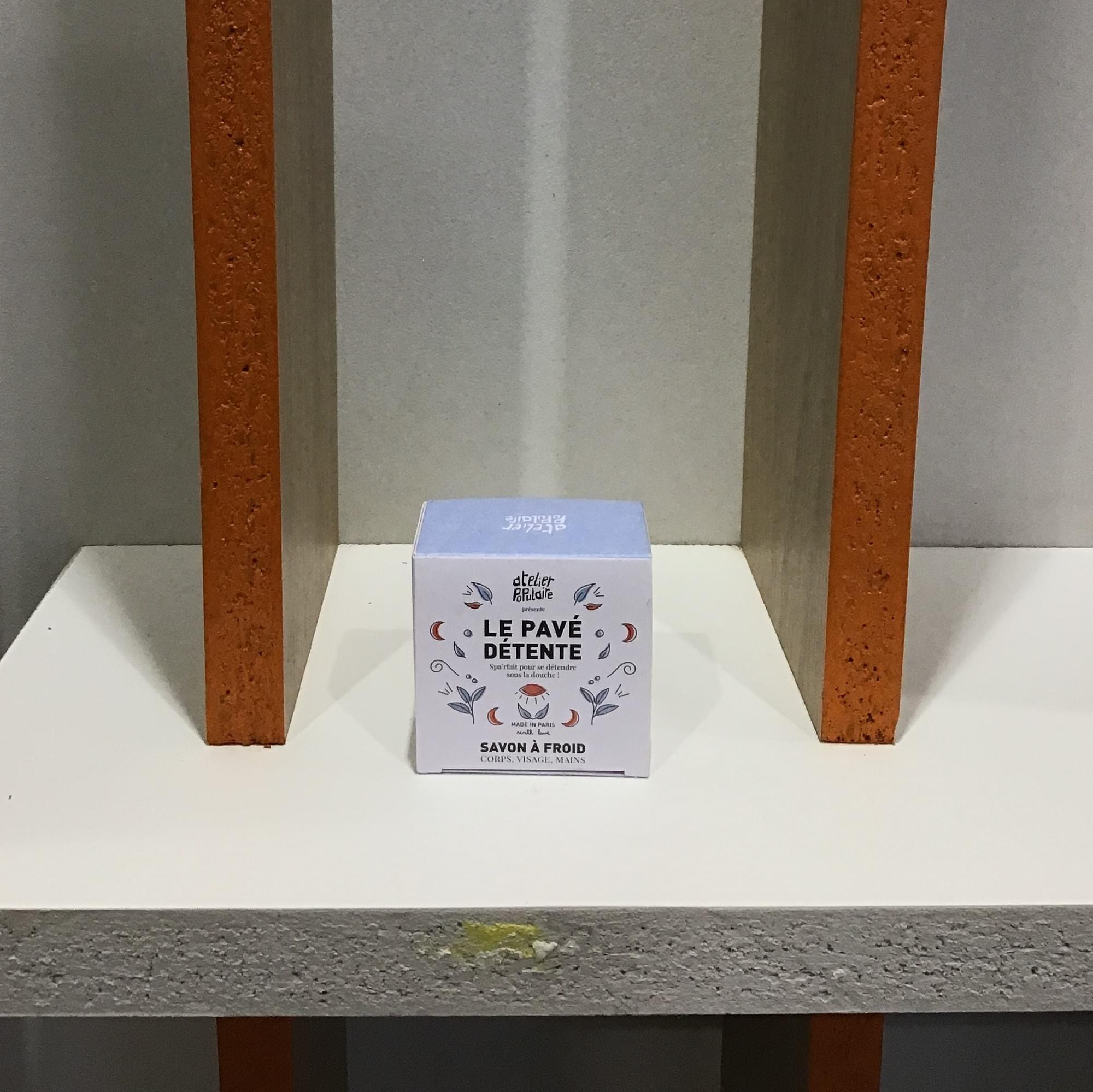Pavé détente (bleu) - Atelier Populaire - boîte 90g