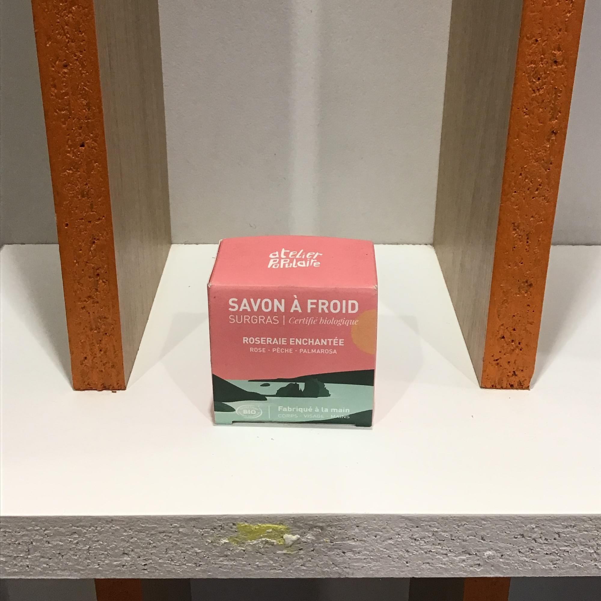 Savon roseraie enchantée - Atelier Populaire - boîte 90g