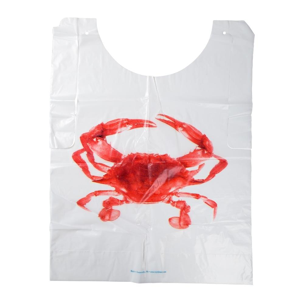 Plastic Bib with Crab Design