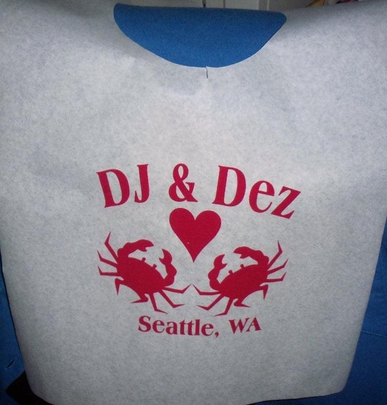 Cloth Bib with Crab Design