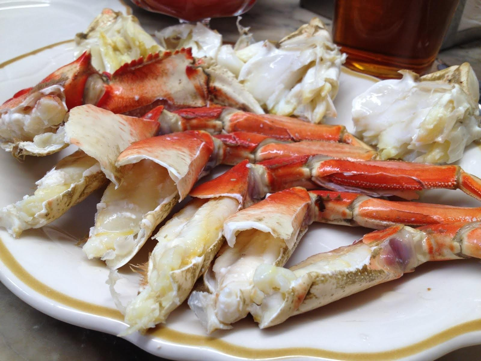 COOKED, CLEANED and CRACKED CRAB