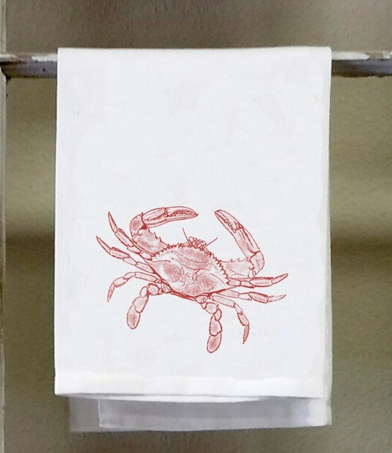 Hand Towels with Crab Design