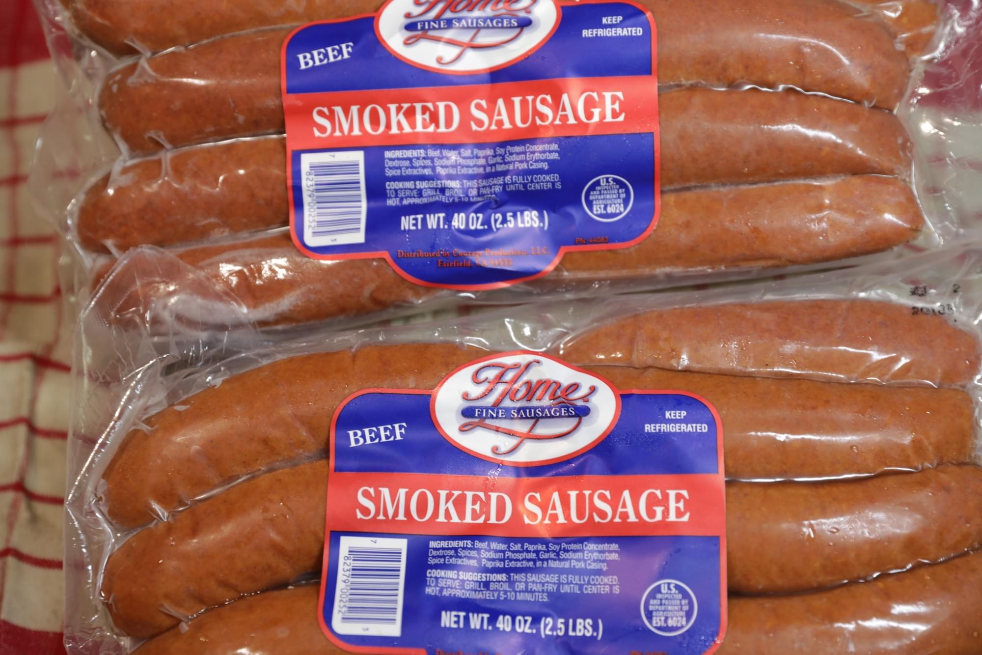 Home Beef Mild Smoked Sausage